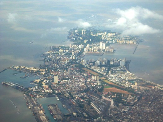 Arial view of Mumbai