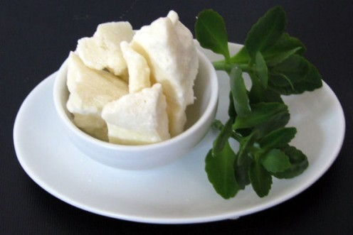Shea Butter - in its natural state. Shea Butter is excellent for both your hair and your skin.