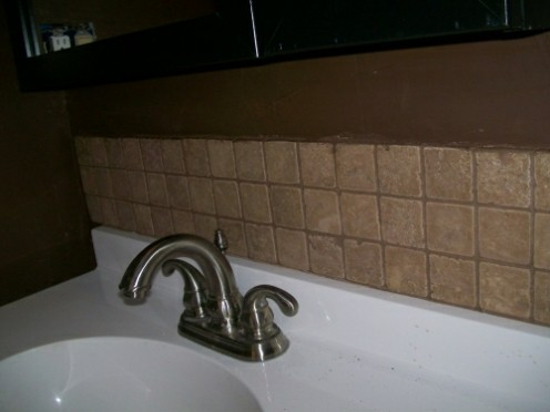 Finished grout & paint