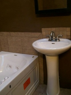 pedestal sink after