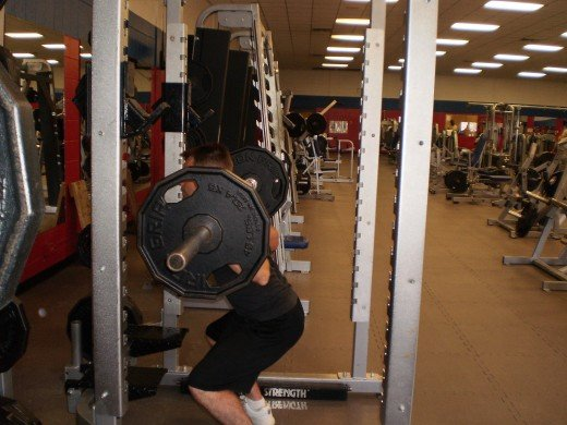 The Squat down position.