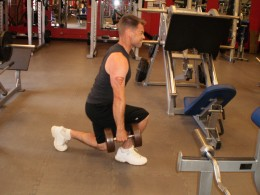 The Lunge down position
