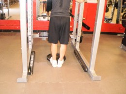 The Calf Raise starting position