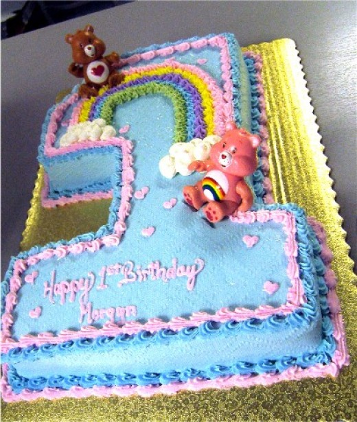 first birthday party cakes. Care Bear Birthday Cake Idea.