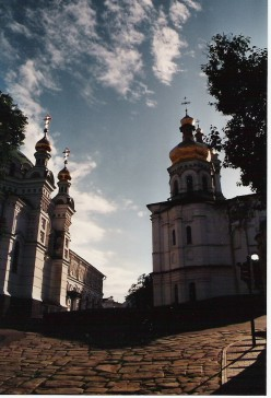 The Pecherska Lavra, a large monastery complex in Kyiv.