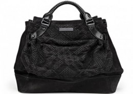 BURBERRY BURNISHED LEATHER TOTE BAG - AROUND $1,600