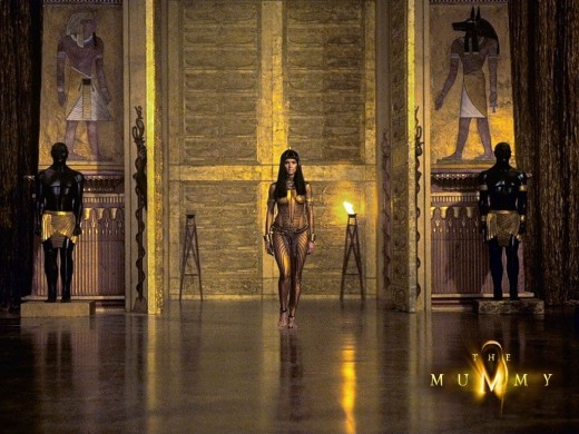 Just a gorgeous picture of the ancient egyptian sets used in the film.