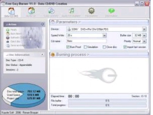 Easy CD DVD Burner