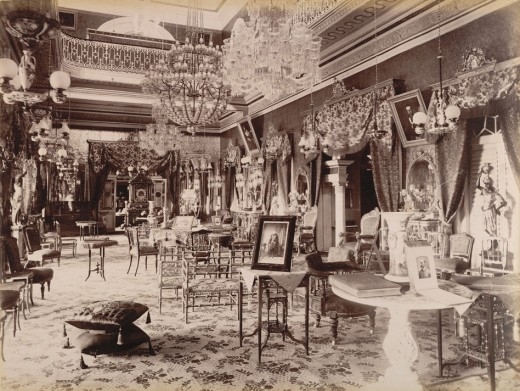 Interior of Bashir Bagh palace in Hyderabad