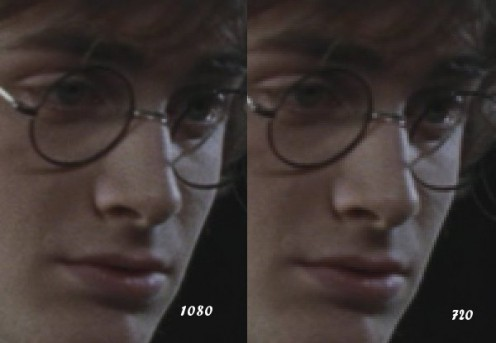 1080 and 720 comparison. Notice the frames of the glasses, the nose, and cheeks.