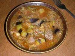Slowly cooked, a very tender meat stew