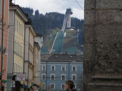 As you can see the olympic ski jump is very close to Innsbruck