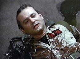 Billy Murray in Ghostbusters - slimed.