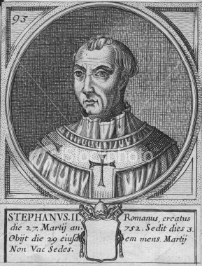 POPE STEPHEN II (IMAGE DATED 752 AD)