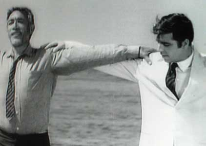 Anthony Quinn, left,as Alexis Zorba, with Alan Bates in 'Zorba the Greek' 1964