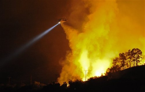 Mission Fires at Angeles National Forest in Los Angeles County Cost people their homes and great loss of wildlife...are they covered medically while homeless?