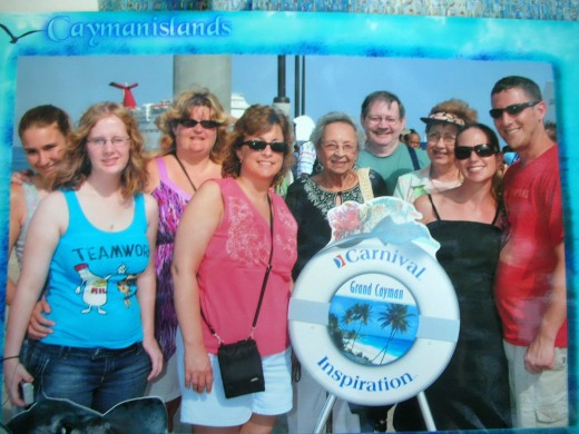 Some of family ready to explore Grand Cayman