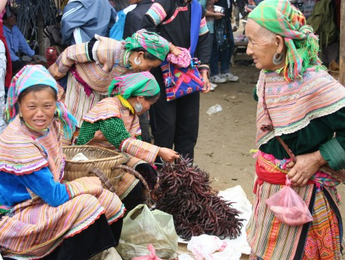 Chilli seller Bac Ha Market Vietnam