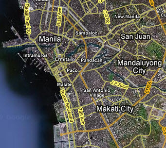 Makati City Map from Google Maps