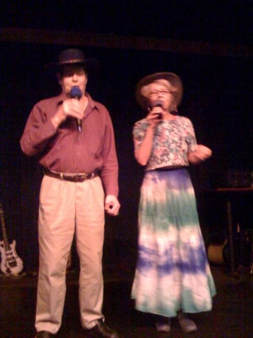 """Me & Joe doing """"Long Black Train"""" duet in a gambling casino! har!"""