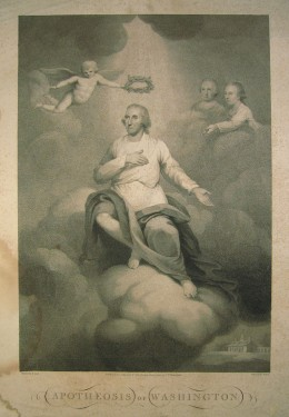 George Washington being crowned a God? The mystery's afoot...