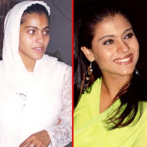 actresses without makeup photos. Kajol without make up looks