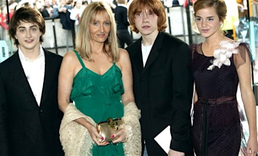 The trio with Harry Potter creator JK Rowling.