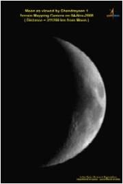 Moon as viewed by Chandrayaan-1 on 4 Nov. 2008