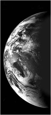 Earth (Australias southern coast)as viewed by Chandrayaan-1on 12.30 p.m., 29 Oct. 2008