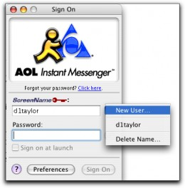 An Instant Messaging service called AOL Instant Messenger (AIM for short)