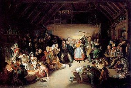 Halloween party in Blarney,Ireland in 1832
