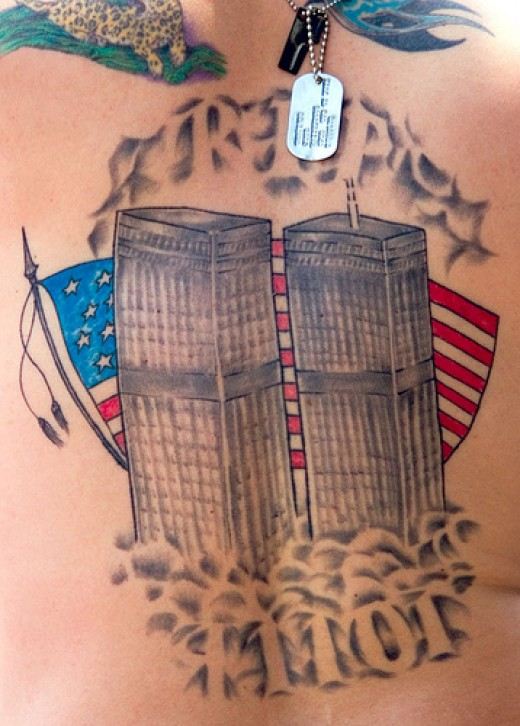 Memorial tattoos have become much more common since 9/11.