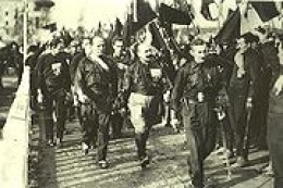 October 27-29, 1922 Mussolini's Fascist Blackshirts March on Rome and take over government.