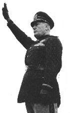After taking power, Mussolini was often seen in military uniform