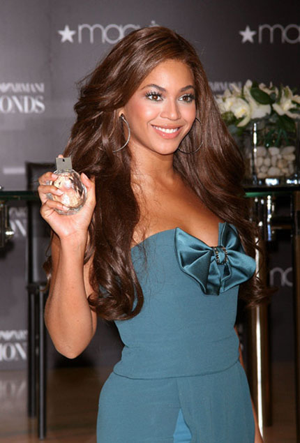 Beyonce promoting Emporio Armani Diamond perfume