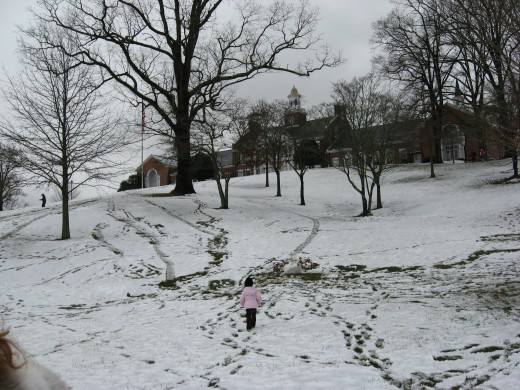 a great hill for sledding