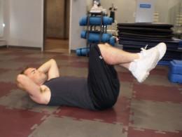 The Reverse Crunch start position