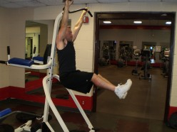 The Hanging Leg Raise up position.  The higher your legs go the better.