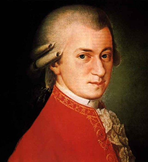 True painting of Wolfgang Amadeus Mozart