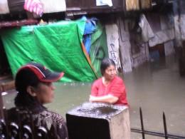Rushing waters during flashfloods