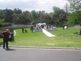 The traditional Australian wedding in one of many city parks. There is a variety of many religious and cultural wedding every weekend in this multicultural free spirited metropolitan city.