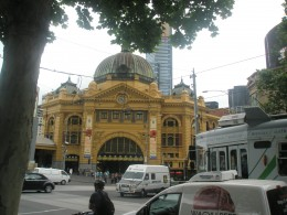 The Melbourne's Flinders Station is busy but Australian people like to rely on their own cars for transport or on taxis at nights. Public transport is not something Australians are proud or rely too much on. However Melbourne is the one of only few c
