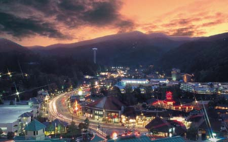 Downtown Gatlinburg Tennessee is a magical place where the entire town is like a giant theme park.