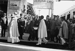 Emperor Haile Selassie arrives in Jerusalem after being forced into Exile - 1936