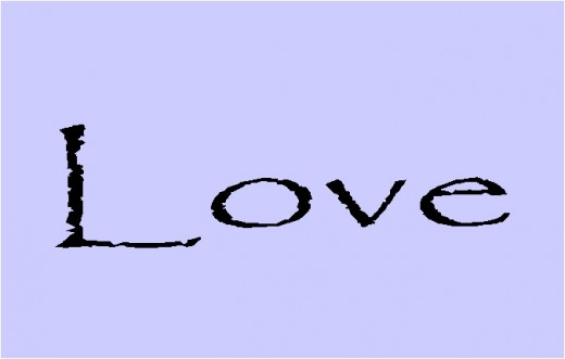 Love black text