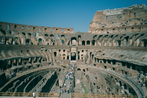 The Colosseum Rome. Interior.