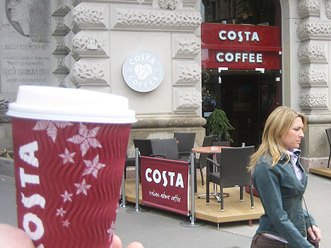 Corporate coffee chains affecting our social habits.