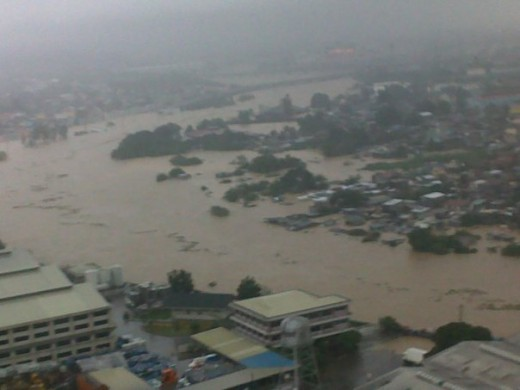 hardest-hit is the River Banks area of Marikina City. The whole city was submerged