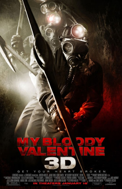 My Bloody Valentine in 3D - watch that pick axe being thrown at you and just die!