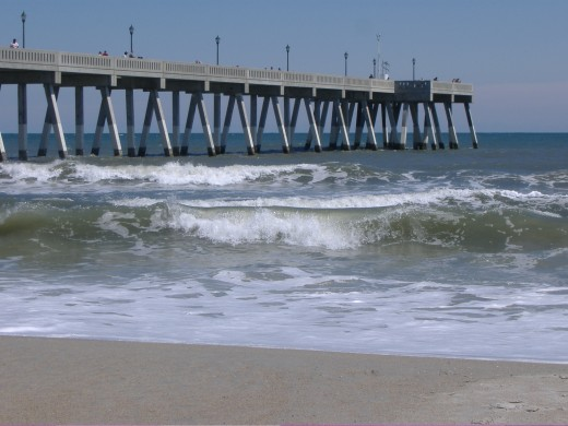 Wrightsville Beach Fishing Pier On North Carolina's Outer Banks.